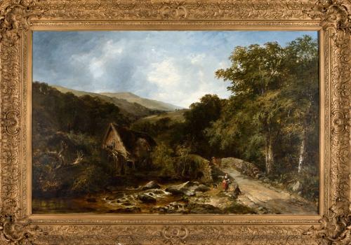 [Romantic Landscape with Two Figures]