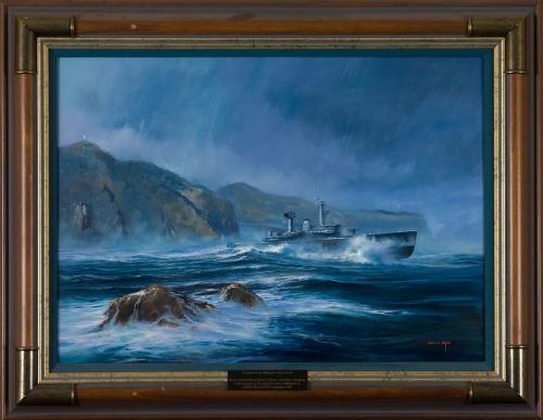 Tasting the Southerly: HMNZS Wellington From Barretts Reef