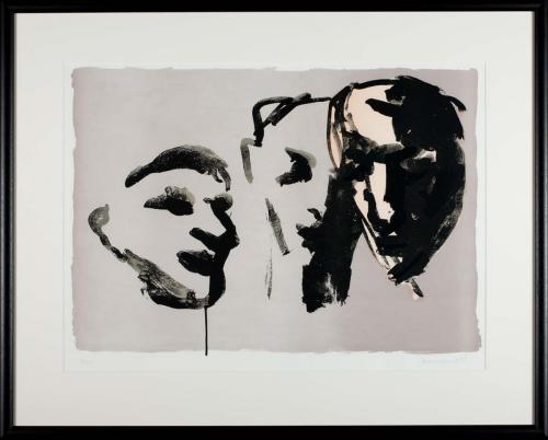 Untitled (Three heads in profile)