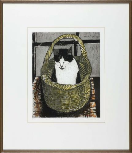 Cat-in-a-basket