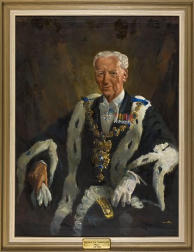 Portrait of T.C.A. Hislop, Mayor